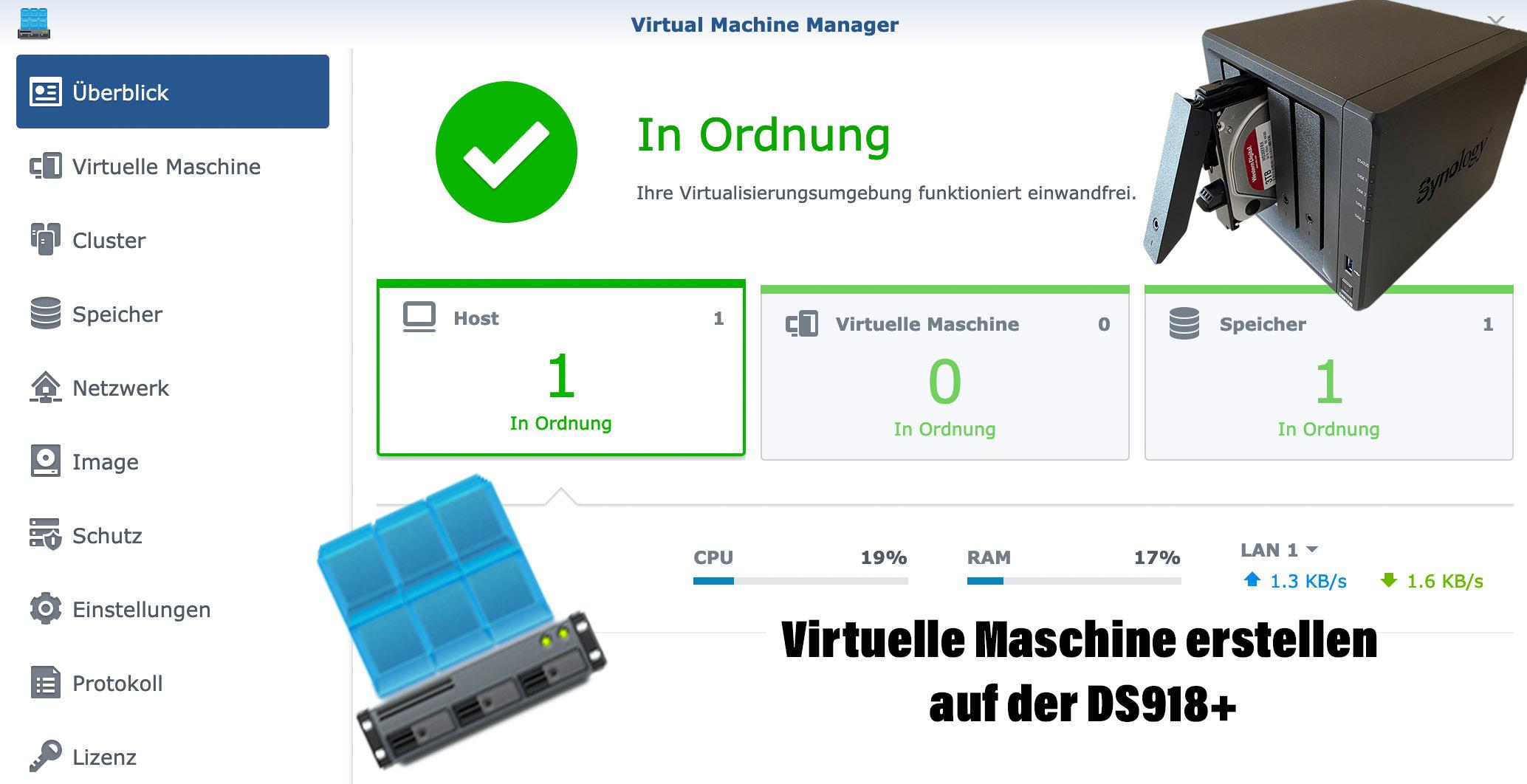 DS918+ Virtuelle Maschine erstellen und Ubuntu installieren