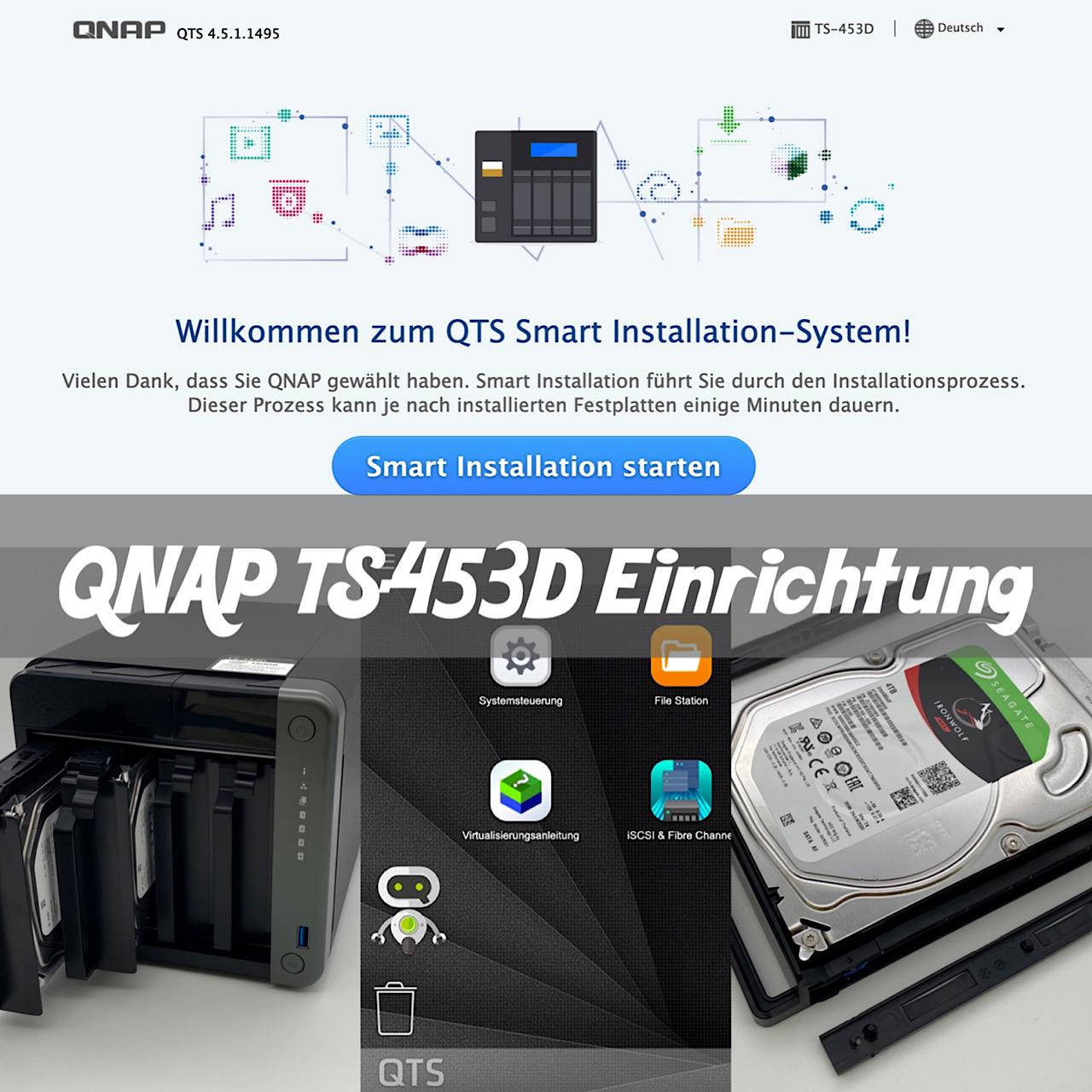 QNAP TS-453D Einrichtung