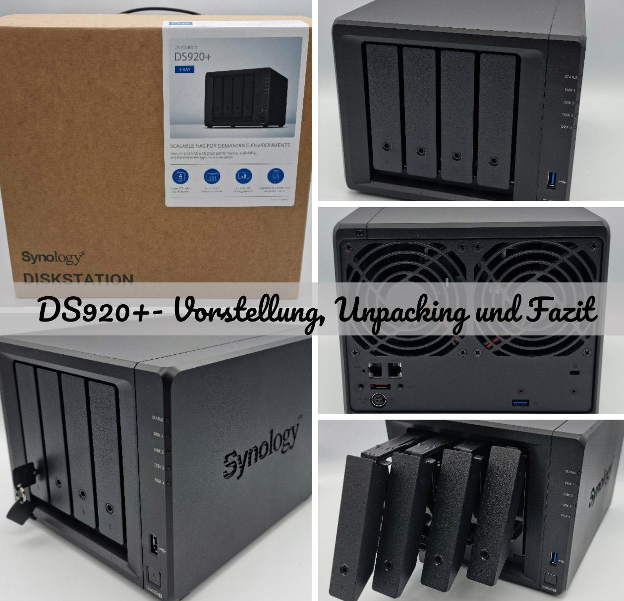 Synology DS920+ – Vorstellung, Unpacking und Fazit