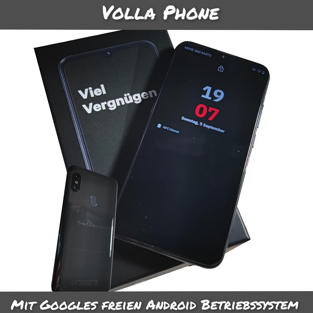Volla Phone – mit Googles freiem Android Betriebssystem